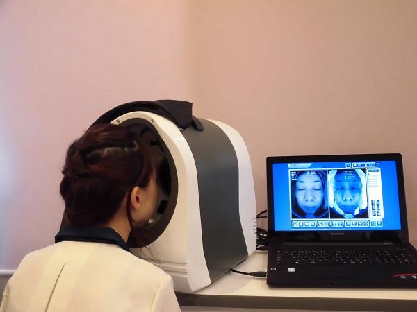 総合肌診断写真撮影